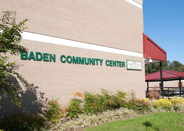 the exterior of baden community center