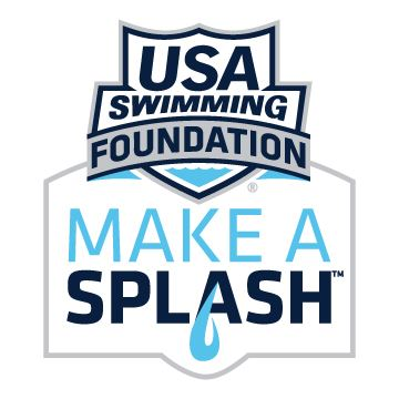 Logo for USA Swimming Foundation with Make a Splash written underneath