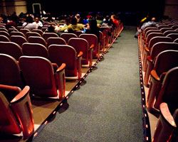 Seats in an auditorium